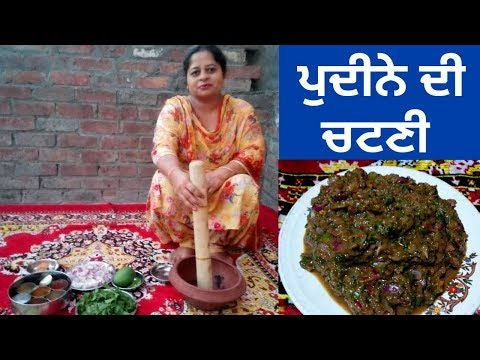 Pudina Chutney || Mint Chutney || Summer Recipe || Life of Punjab || Punjabi Cooking