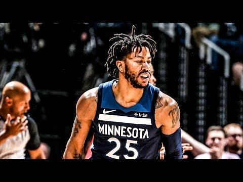 Derrick Rose 17 Off Bench! Wolves Win Game 3! 2018 NBA Playoffs