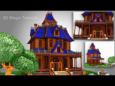 3D Maya Tutorial - How To Model A Stylized House | Part-2