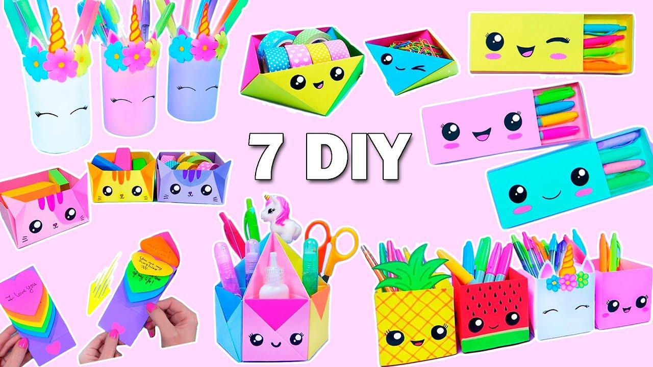 7 EASY PAPER CRAFT IDEAS - School Craft Idea - DIY Origami Craft - Paper Crafts - School hacks