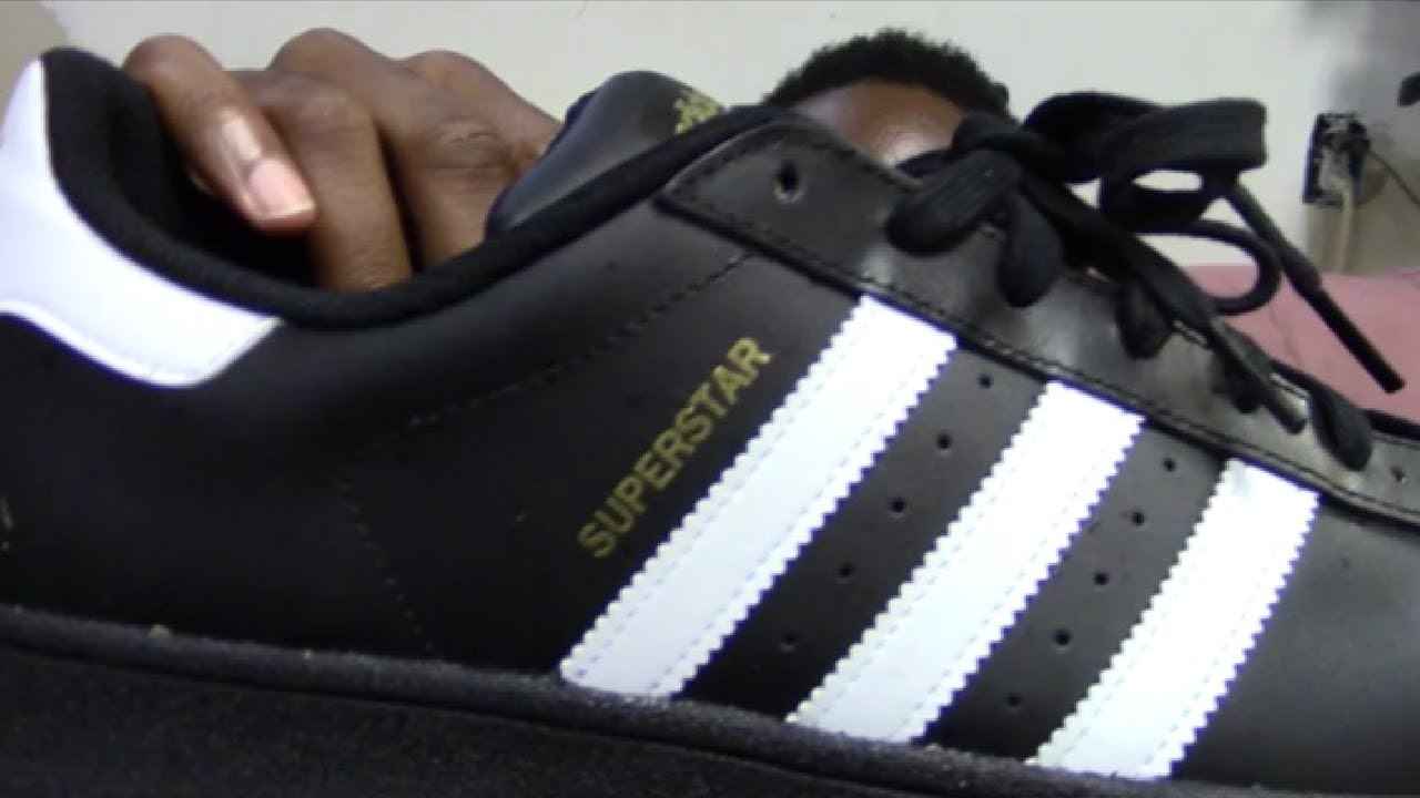 new concept 85a32 12889 Men's Adidas Superstar Foundation (Original) Black and White Review + On  Feet