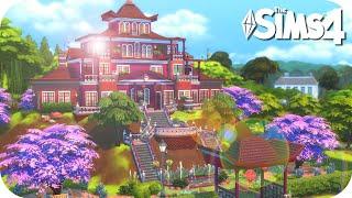 Los Sims 4 Speed Build 🤩⛩❤️ HERMOSA CASA ORIENTAL