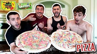 WE MADE A CANDY PIZZA AND THIS IS HOW IT CAME OUT...