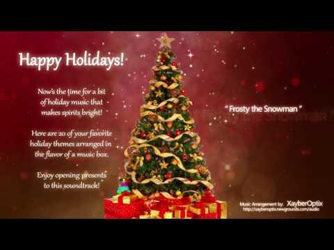 Christmas Holiday Music Themes 20 most popular Music Box Instrumental Medley Songs No Lyrics