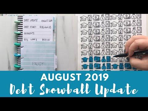 Debt Snowball Update August 2019 + Slowing The Debt Snowball