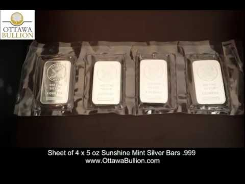 5 oz Sunshint Mint Silver Bars - Ottawa Silver Dealers, Ottawa Silver bars