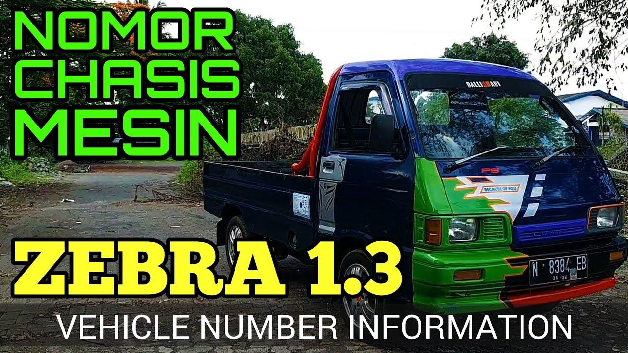 Letak Nomor Rangka Dan Nomor Mesin Daihatsu Zebra 1 3