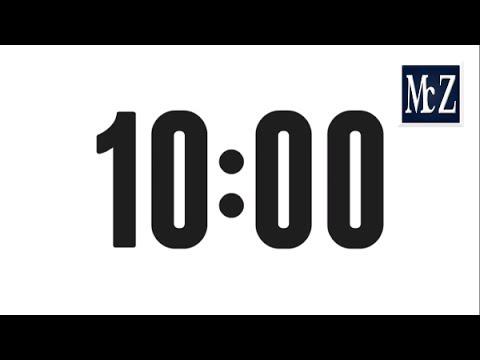 10 minute countdown timer - Conto alla rovescia 10 minuti - YouTube