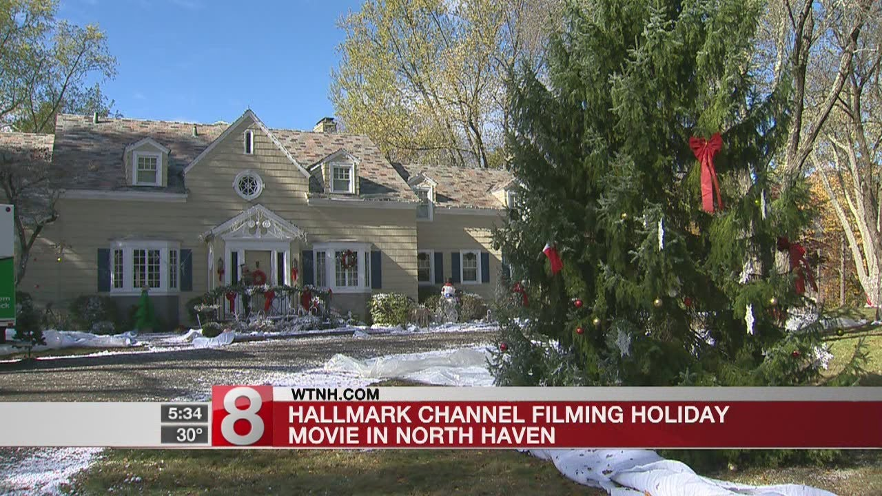 Hallmark channel filming holiday movie in North Haven - YouTube