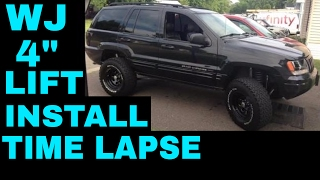 jeep grand cherokee wj 99 04 rough country 4 long arm install time lapse
