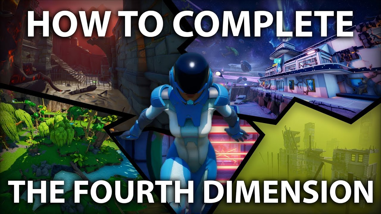 How To Complete The Fourth Dimension By Cre8 Fortnite Creative Youtube
