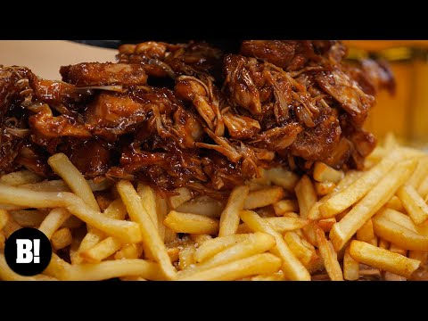 BBQ JACKFRUIT LOADED FRIES | VEGAN | BOSH!