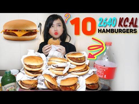 HAMBURGER CHALLENGE | HOW MANY CAN I EAT? MUKBANG