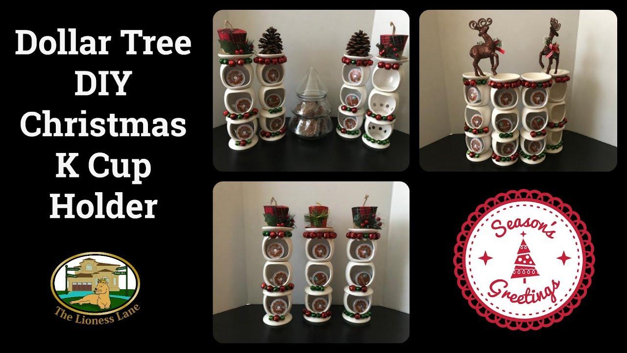 dollar tree christmas diy k cup holder youtube. Black Bedroom Furniture Sets. Home Design Ideas