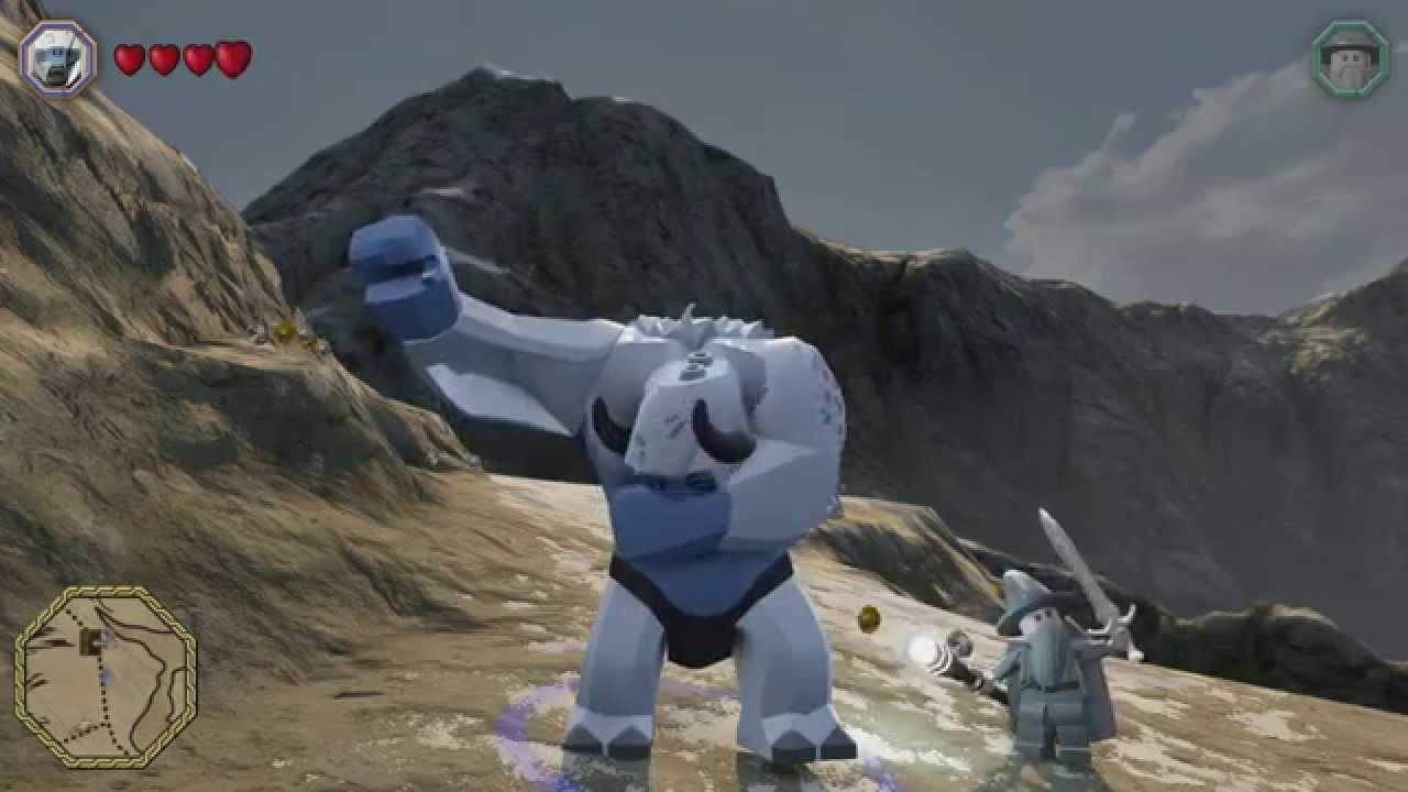 Lego the hobbit snow troll free roam gameplay big little character