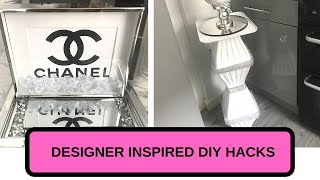 DIY HACKS | DESIGNER INSPIRED HOME DECOR | GLAM DECOR IDEAS