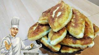 Жареные пирожки на кефире с яйцом и зеленым луком без дрожжей