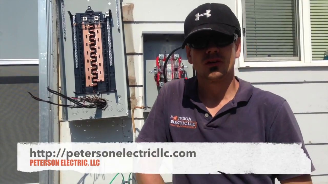 Mounting & Lining Up The Electrical Panel On Residential Home - YouTube