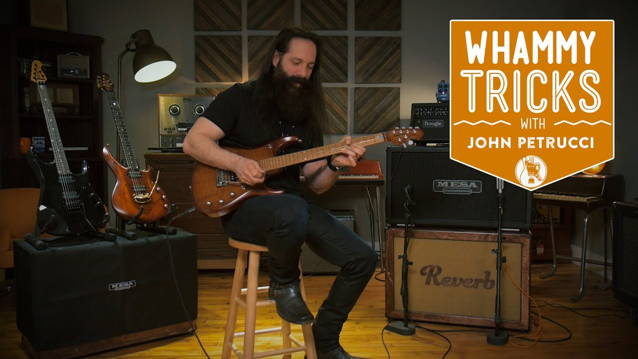 whammy bar tricks with john petrucci of dream theater reverb