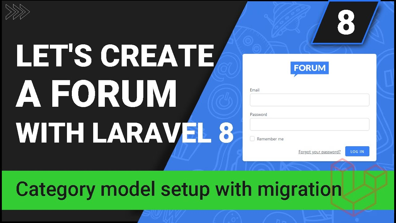 Category Model Setup with Migration - Create a forum with Laravel 8 - Part 8