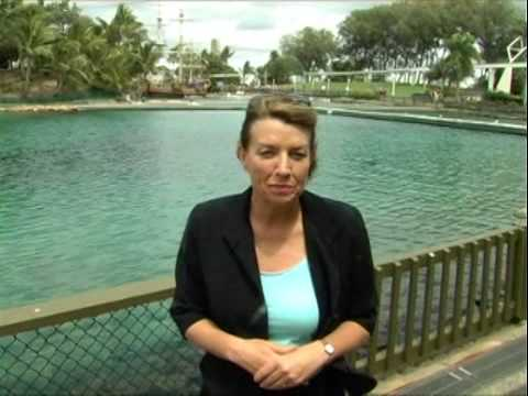 Anna at Seaworld talking about tourism and jobs