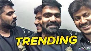 Simbu Surprised Azhar | Latest Trending Video | Yenda Thalaiyila Yenna Vekkala | STR