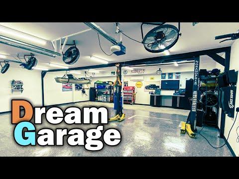 Dream Garage Tour - BendPak Lift, Saber Cabinets & MRCool Air Conditioning