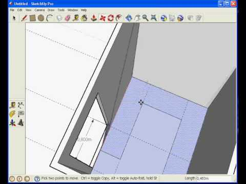 Sketchup chambre youtube for Chambre froide