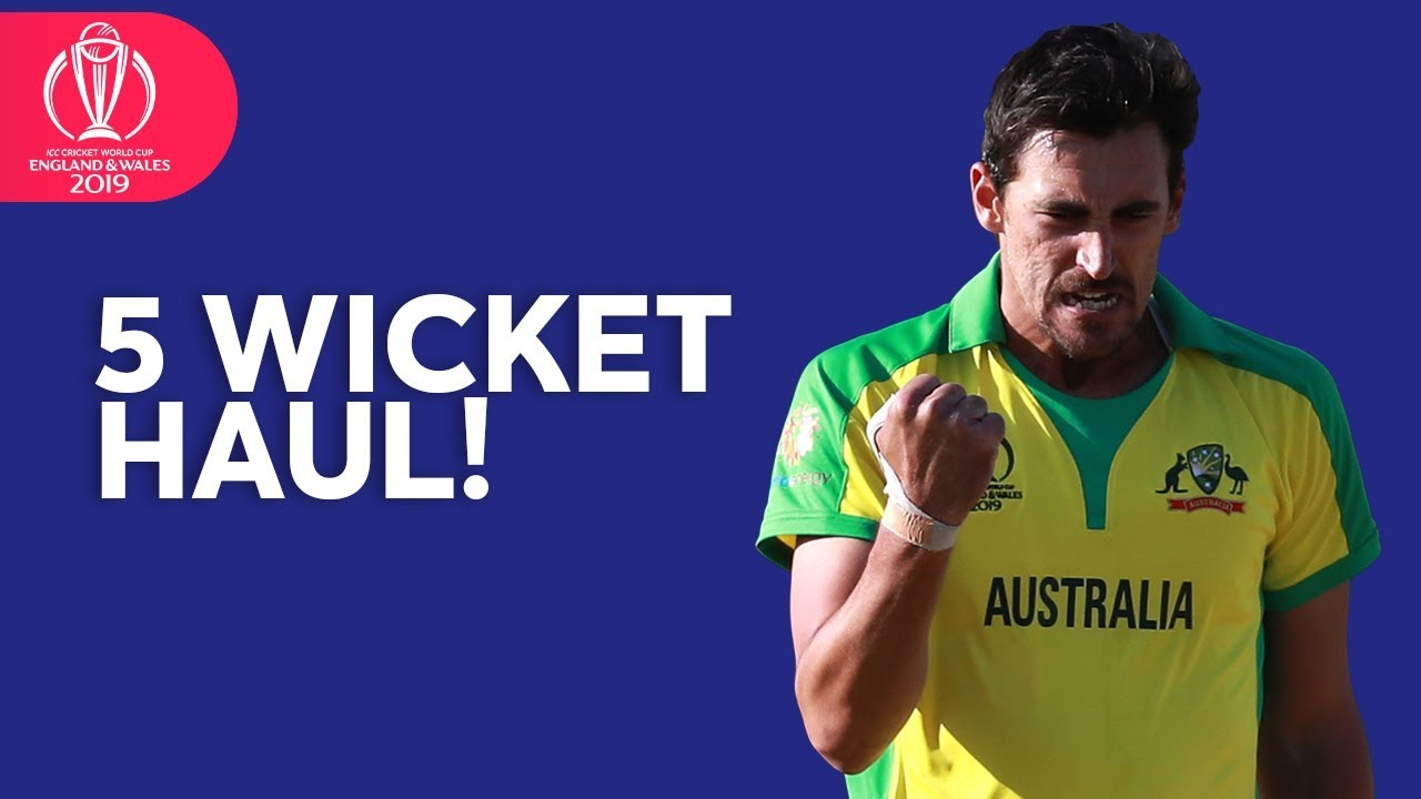 Mitchell Starc Takes FIVE Wickets Against West Indies   ICC Cricket World  Cup 2019