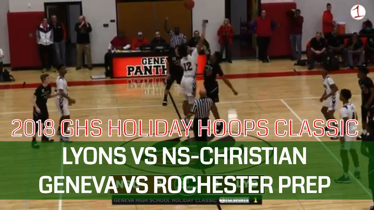 WEBCAST REPLAY: Lyons vs NS-Christian & Geneva vs Rochester Prep at Holiday Hoops Classic