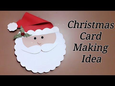 Christmas Greeting Card Making.Repeat Santa Christmas Card How To Make Christmas Greeting