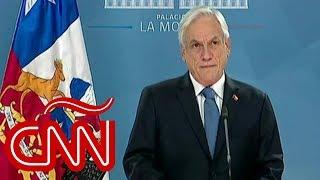 Sebastián Piñera promete reconstrucción y extiende estado de emergencia