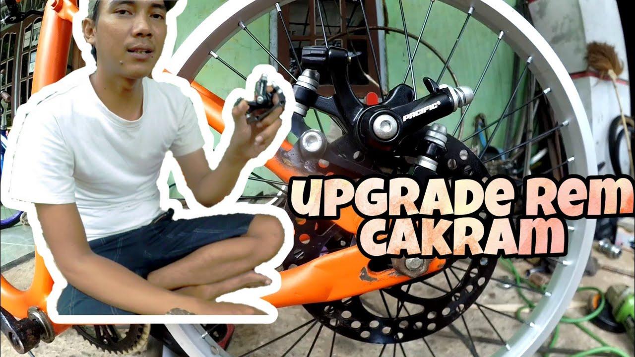Cara Memasang Kaliper Rem Cakram Pada Sepeda Minion Adhi Bikevlog Youtube