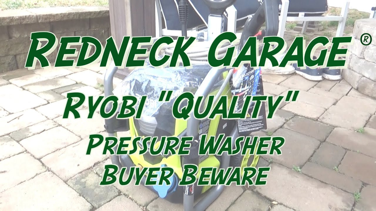 Ryobi 40 Volt Cordless Pressure Washer =  $500.00 Garbage Product