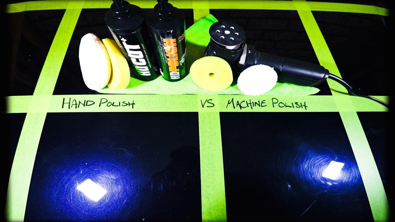 Hand Car Polishing Vs Machine Paint Polishing Youtube