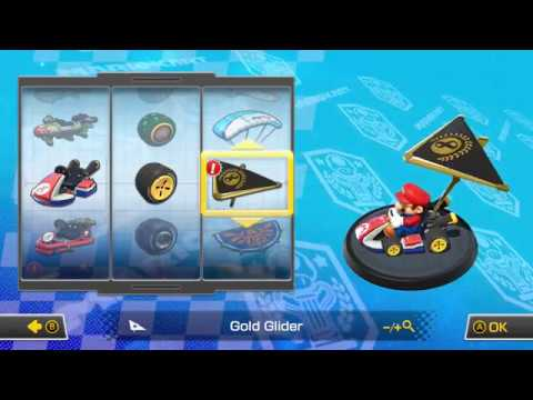 mario kart  deluxe gold glider unlock youtube