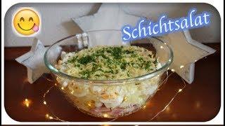Schichtsalat   gut vorzubereiten   lecker 😋   Partyrezept