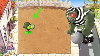 1 Gatling Pea vs Gargantuar vs All Zombies - Plants vs Zombies