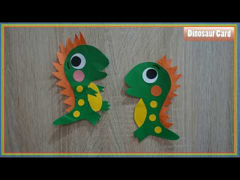 How to make a paper Dinosaur Craft For Kids Easy