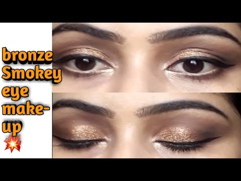 Very Easy Bronze Smokey Eye Makeup Tutorial ?|| Using Swiss Beauty 32Colours Eyeshadow Palette Video