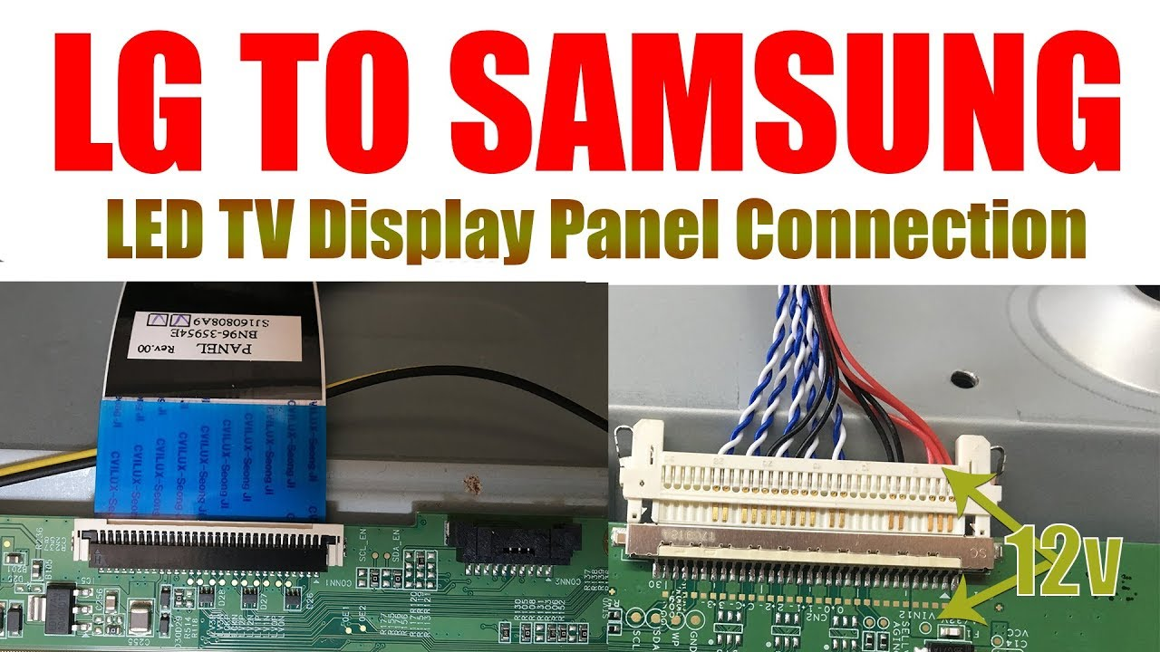 small resolution of lg to samsung display panel connection in led tv