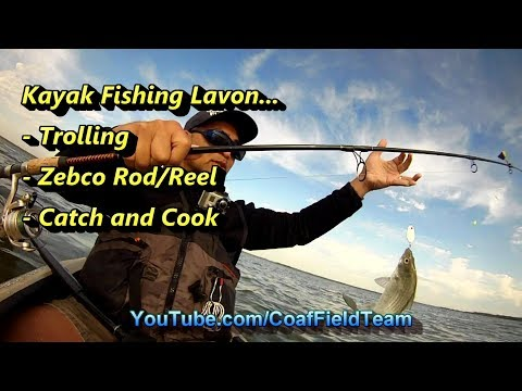 kayak-fishing-lavon...-trolling,-zebco-rod/reel,-and-catch-and-cook!