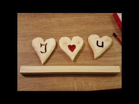 diy for a valentine's day wooden heart