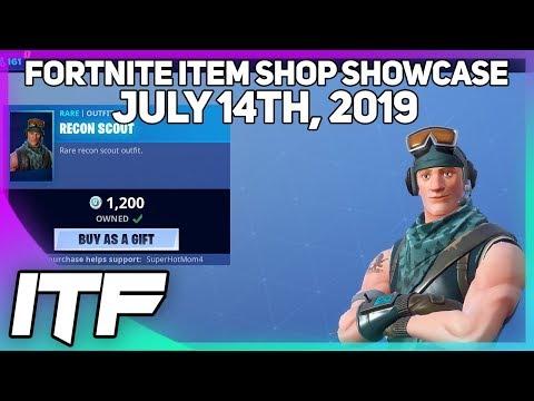 Fortnite Item Shop *RARE* RECON SCOUT IS BACK! [July 14th, 2019] (Fortnite Battle Royale)