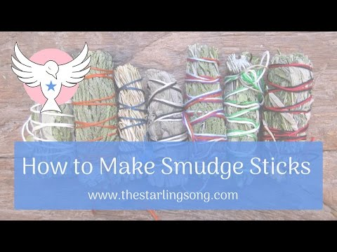 How to Make Smudge Sticks - YouTube