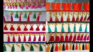 my over all Silk Thread Saree Kuchu/tassels Collection Part -1