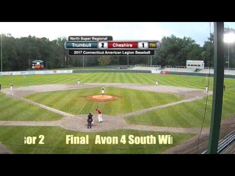2017 CT AMERICAN LEGION BASEBALL SOUTH REGION - TRUMBULL VS. CHESHIRE