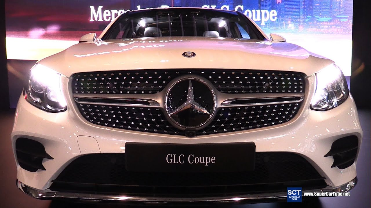 2017 Mercedes Benz GLC Class Coupe   Exterior And Interior Walkaround    2016 New York Auto Show   YouTube