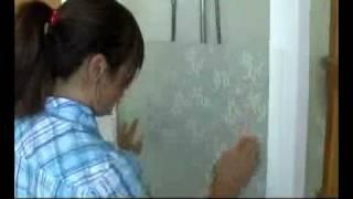 installing frosting film to shower