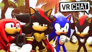 Sonic, Shadow & Knuckles Meet Shadina! (VR Chat)